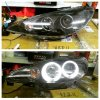 APG077 Headlamp Peugeot 206 98-05 Projector Angel Eyes Crystal Black (R)
