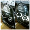 Headlamp Toyota Yaris 05-08 Projector Angel Eyes Crystal Black Housing (RTP)