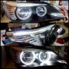 ABM087-A3W2C-1 Headlamp BMW 5 Series E60 03-10 Projector LED Angel Eyes Crystal Black Housing (TP)