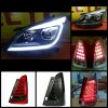 Headlamp Innova 2012-Onward Projector All LED Bar Lexus Style + LED Stoplamp (4 Warna/Model) (RTF)