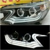 AHD598-B7W2P-BH Headlamp Honda CRV 2012-2016 Double Projector LED Bar Crystal Black Housing (RTF)