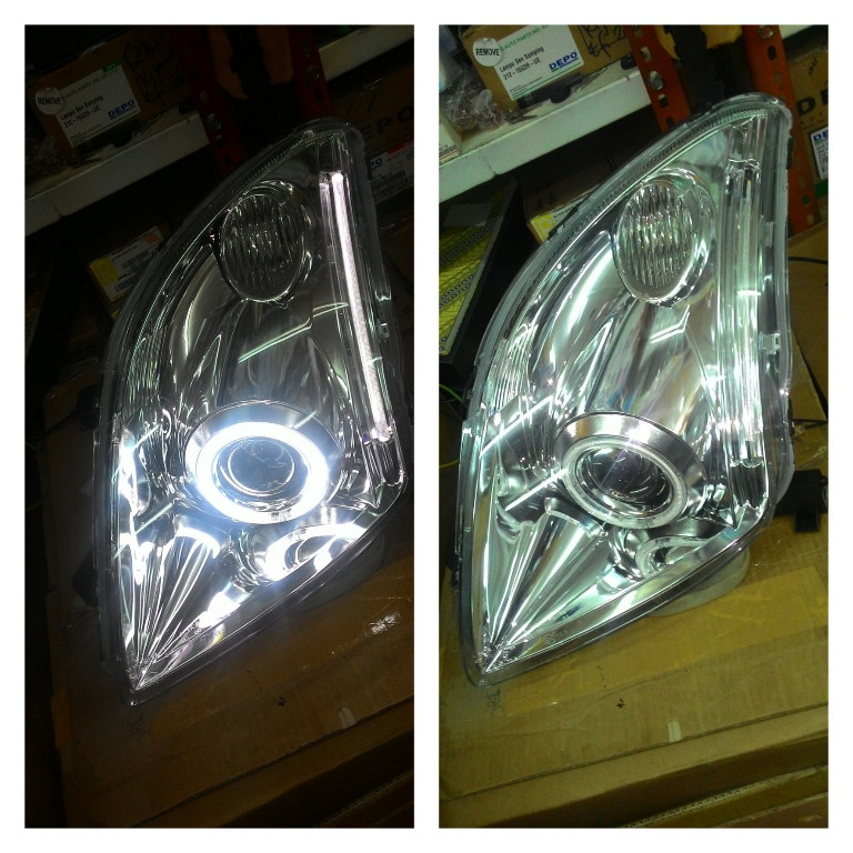 ASZ094-B7WCW Headlamp Swift 04-11 Projector Angel Eyes Crystal Chrome Housing (RTF)