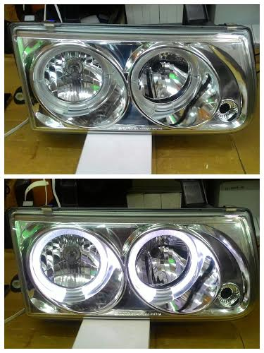 SK3050-PNT-01 Headlamp Isuzu Panther 00-04 Angel Eyes Crystal Chrome (RTF)