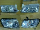 212-1193RD Headlamp Great Corolla 1992-1995 Crystal Chrome with Chrome Corner Lamp (Revs)