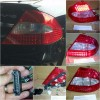 440-1959PXAE-CR Stoplamp Mercedes CLK W209 03-08 LED Clear Lens Crystal Red (RTF)