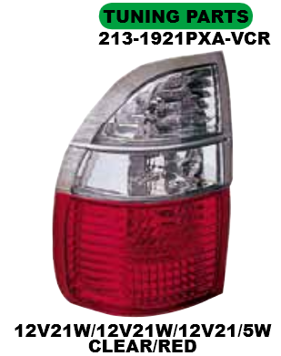 213-1921PXA-VCR Stoplamp Isuzu Panther 01-12 Crystal Clear Red (RTF)